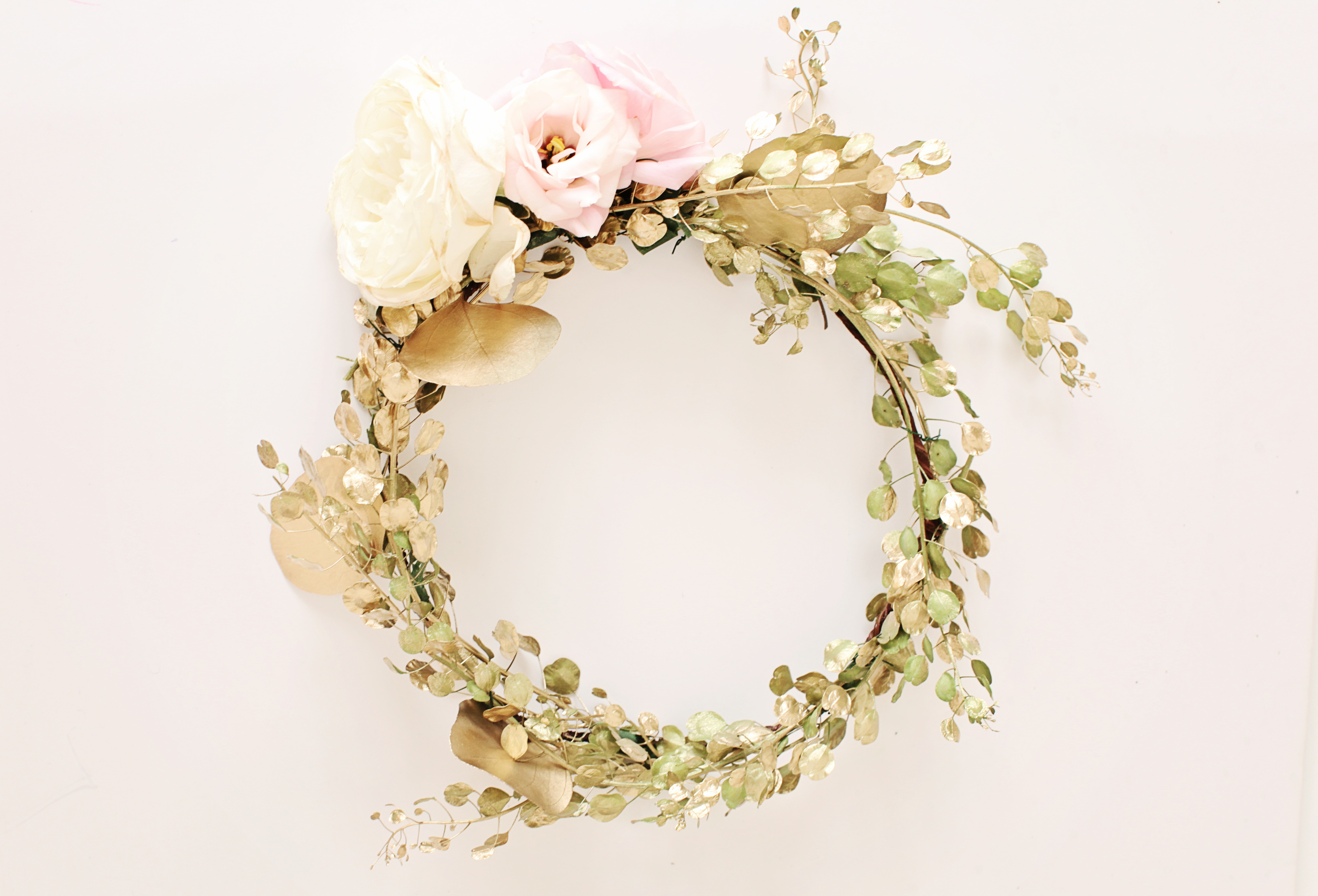 Diy gilded floral crown diy gold floral crown the days design ashley slater photography izmirmasajfo