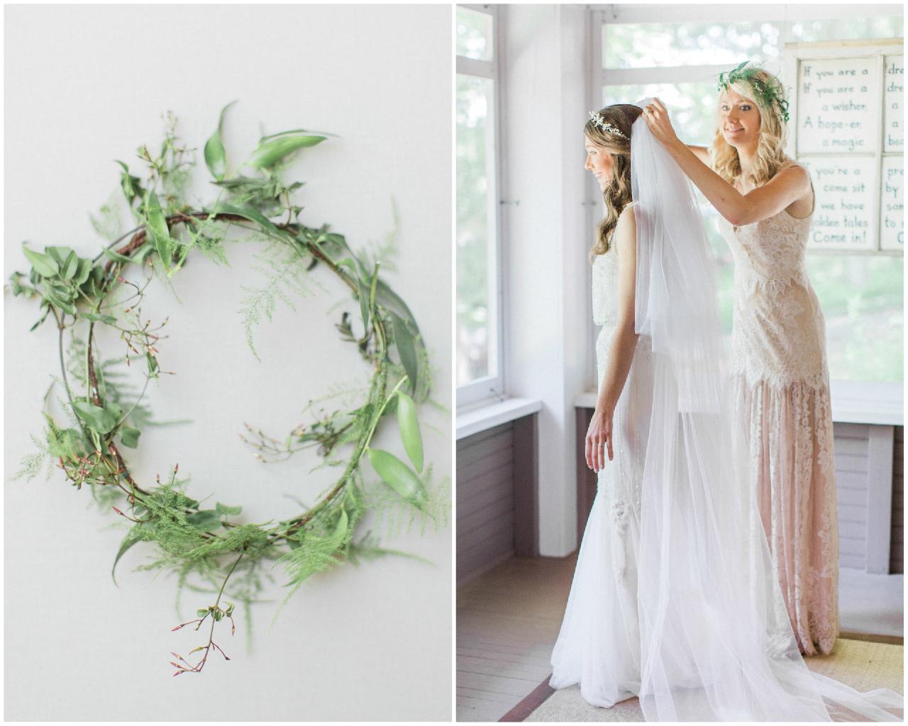 Real Weddings Instagram: Real Weddings :: Crissie & Mike's Fern Infused Frankfort