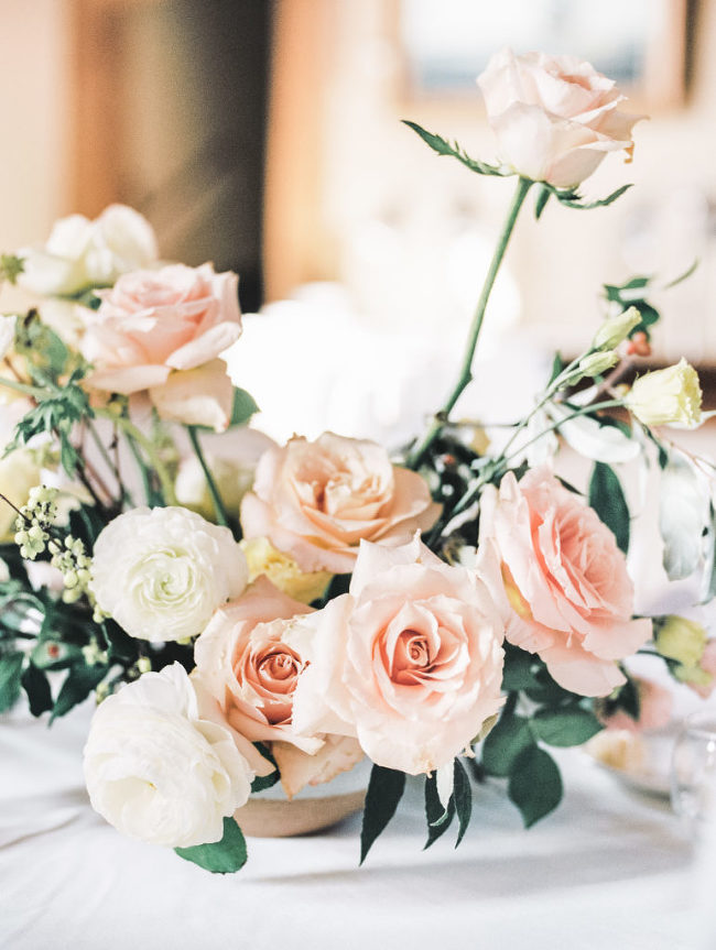 Blush Wedding Flowers | The Day