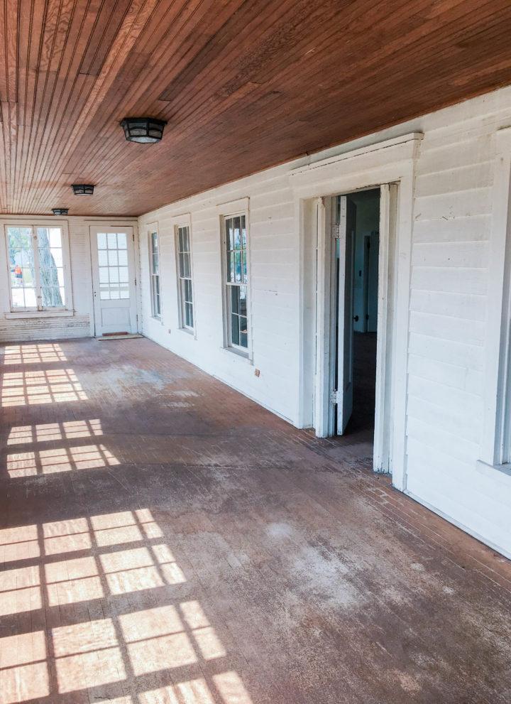 Enclosed Porch   Sleeping Bear Inn   Port Oneida