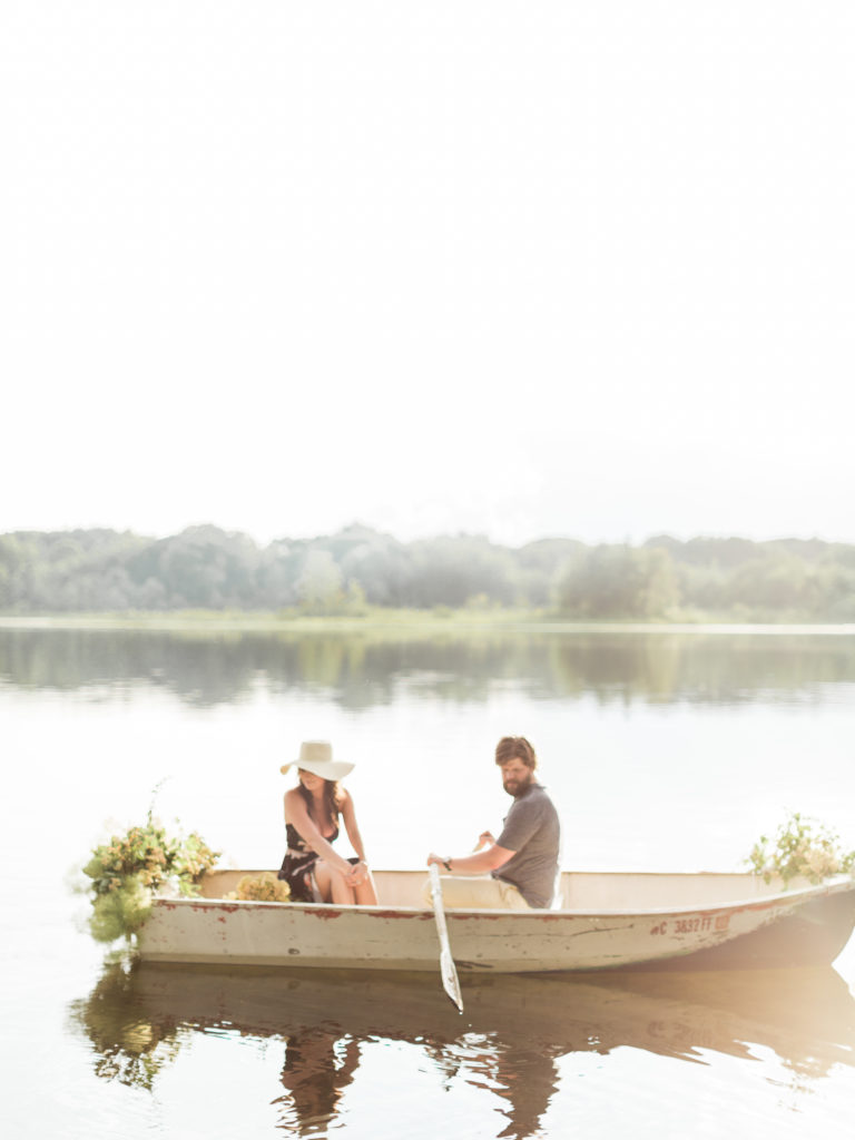 Summer Hats | Row Boat photo Session | TownLine Journal