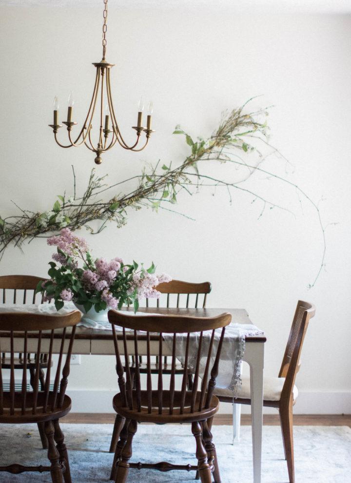 White Dining Room Makeover