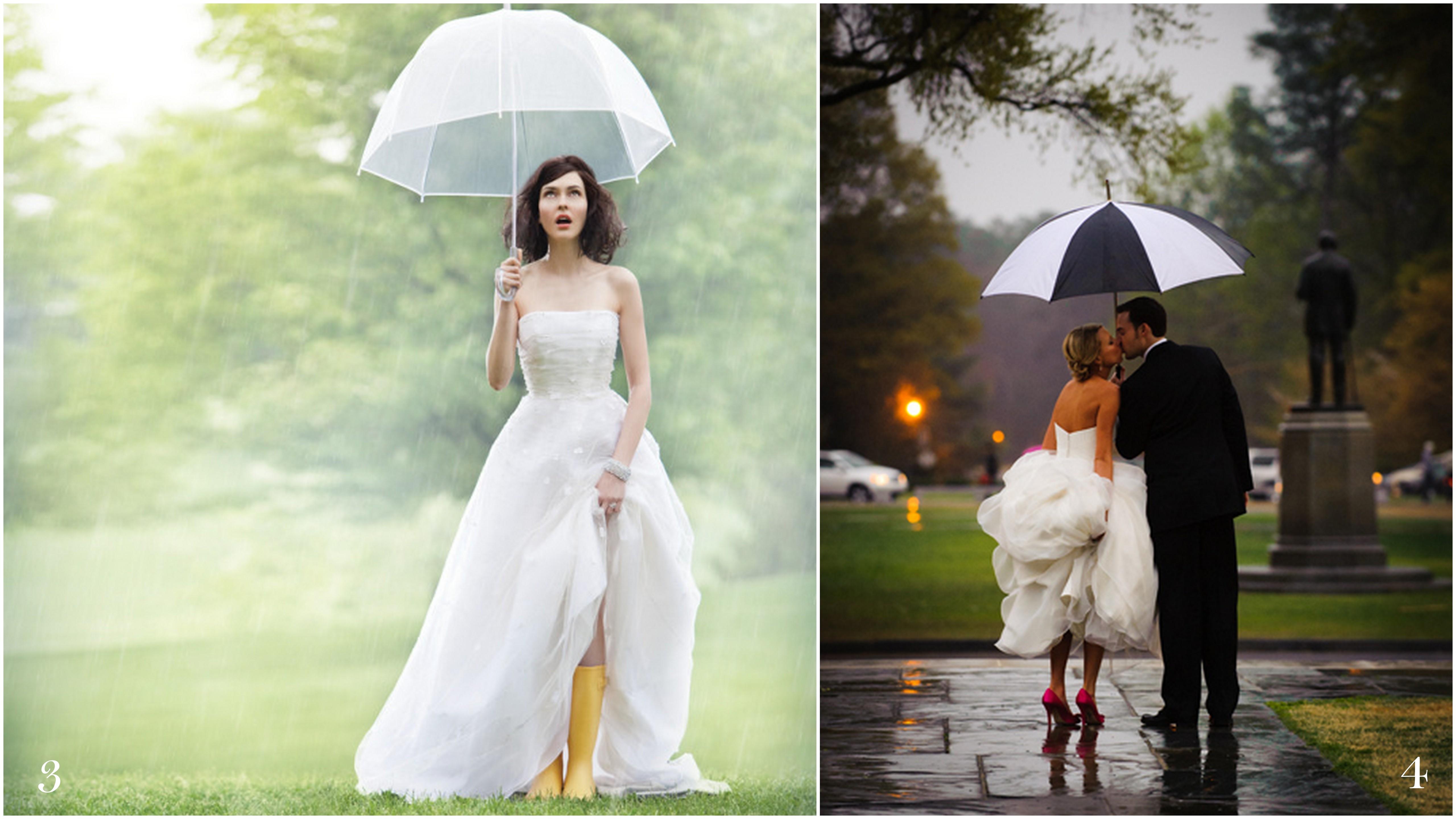 Yellow Rain Boot And Umbrellas